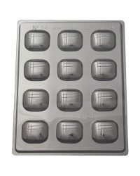 Elite square cushion shaped deep fill chocolate mould