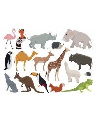 Character edible icing image sheet Wild Animals