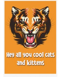 A4 Edible icing image Tiger Cool Cats and Kittens