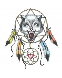 Edible icing image Wolf dream catcher
