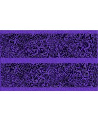 A3 Edible icing image sheet Polynesian wedding panels Purple by ibicci
