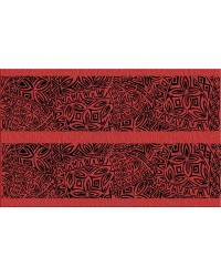 A3 Edible icing image sheet Polynesian wedding panels RED by ibicci