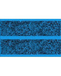 A3 Edible icing image sheet Polynesian wedding panels blue by ibicci