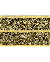 A3 Edible icing image sheet Polynesian wedding panels Yellow by ibicci