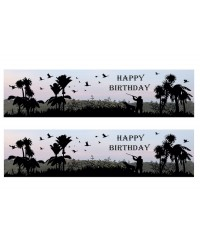 A3 Edible icing image sheet Happy Birthday Hunting scenes by ibicci