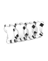 Dog Bone Multi cookie cutter cut 4 cookies at once