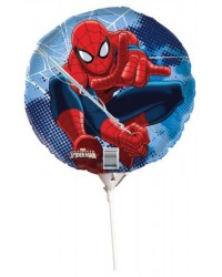 Foil Balloon on stick Air or Helium Spiderman