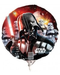 Foil Balloon on stick Air or Helium Darth Vader Star Wars