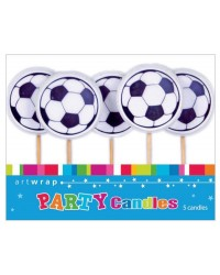 Soccer Ball 5 pick candle set