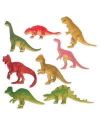 Pack of 8 Dinosaur party favour figurines