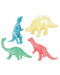 Pack of 4 Dinosaur STRETCHY party favour toys
