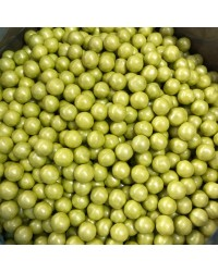 10mm Pearl Lime Green sixlets (cachous or sugar pearls) 100g