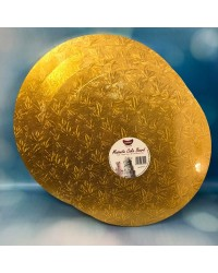 15mm Thick cake board 15 inch round Gold