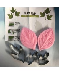 Peony leaf cutters and veiner set