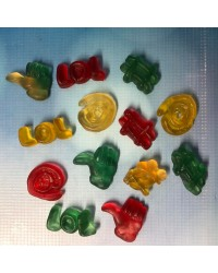 Social Media icons Gummy Candy lollies