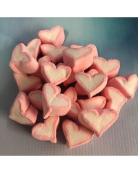 Marshmallow hearts Baby pink candy lollies