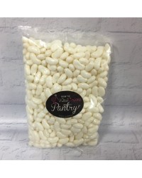 White Jelly Beans candy lollies