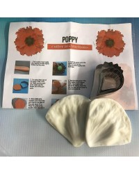 Poppy flower petals cutters and veiner set