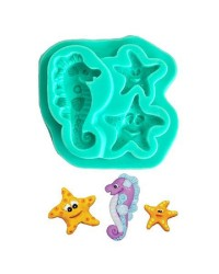 Cute seahorse and starfish silicone mould