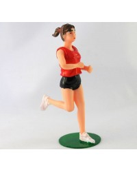 Jogging Runner female figurine plastic cake topper