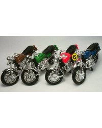 Motorcycle motorbike plastic cake topper BLUE sold singly