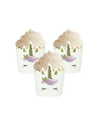 Unicorn straight sided cupcake papers (12)