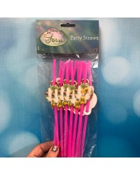 Tinkerbell party straws (12)