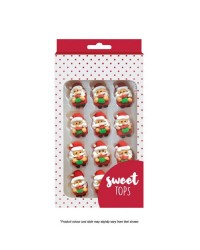 Christmas Santa icing decorations by Sweet Tops