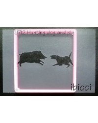 Hunting Dog and Pig combined stencil
