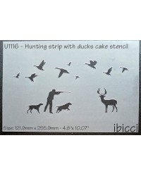 Hunting with Ducks stencil