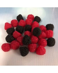 Blackberry and Raspberry gumdrops candy