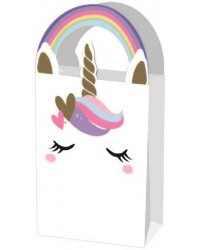 Unicorn face party bags (4)