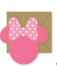 Minnie Mouse Silhouette Party Invites (8)