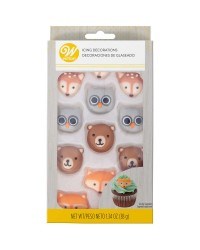 Royal icing decorations Woodland animals