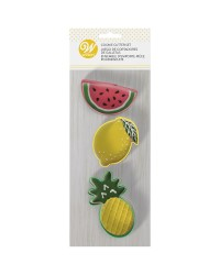 Fruit set of 3 cookie cutters Pineapple Watermelon and lemon