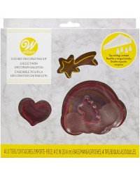 Unicorn COOKIE CUTTER DECORATING KIT BAGS AND TIPS with heart shooting star and rainbow