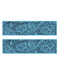 A3 Edible icing image sheet Polynesian wedding panels light blue by ibicci