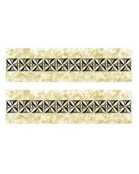 A3 Edible icing image sheet Samoan Flower strips Gold Splatter by ibicci