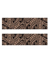 A3 Edible icing image sheet Samoan Panel black on brown bark by ibicci
