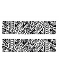 A3 Edible icing image sheet Samoan Panel Black and White by ibicci