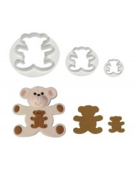 Teddy bear fondant or gumpaste cutters set of 3 by PME