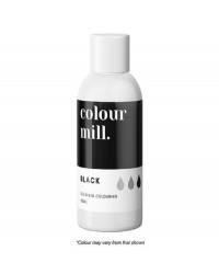 100ml XL bottle Colour Mill Oil Based Food Colouring Black