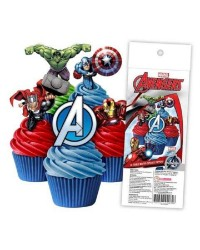 Avengers pack 16 wafer paper cupcake toppers