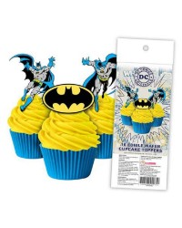 Batman pack 16 wafer paper cupcake toppers