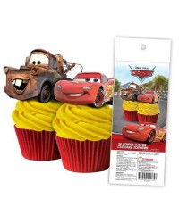 Cars Lightning McQueen pack 16 wafer paper cupcake toppers