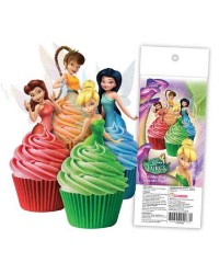 Disney Fairies Tinkerbell pack 16 wafer paper cupcake toppers