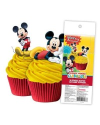 Mickey Mouse pack 16 wafer paper cupcake toppers