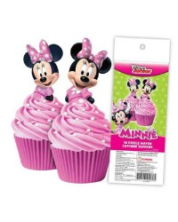 Minnie Mouse pack 16 wafer paper cupcake toppers