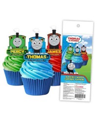 Thomas the Tank Engine Pack of 16 wafer paper cupcake toppers