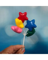 Star shape bunch balloons pick cake topper